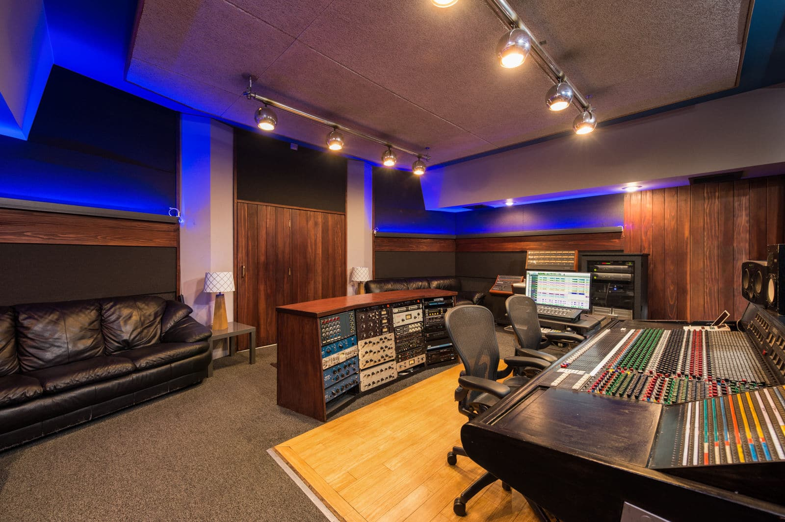 Rear of Clear Lake Recording Studio A in North Hollywood